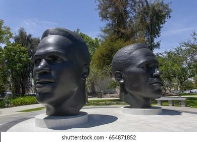 PASADENA, USA - MAY 2015 Public Art Pasadena Robinson Memorial