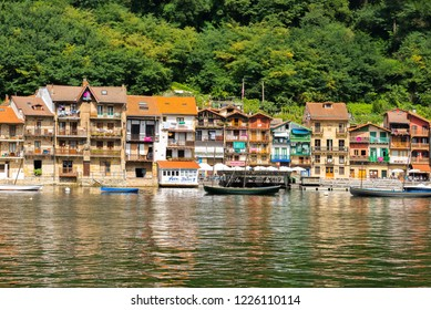 PASAI DONIBANE, SPAIN - AUG 27: Fishing town of Pasajes de San Juan (Pasai Donibane) on August 27, 2015 in Pasai Donibane, Basque Country, Spain.