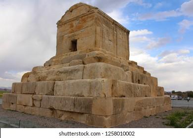 Pasargadae, Iran. April 2016. Tomb of Cyrus the Great in Pasargadae