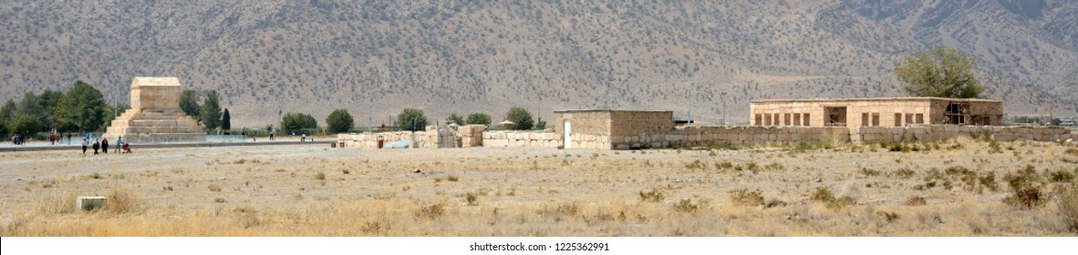 PASARGADAE, IRAN - SEPTEMBER 5: Ancient ruins, the Great at 5 September, 2018 at Pasargadae, Iran. Pasargadae was the capital of the Achaemenid Empire under Cyrus the Great.