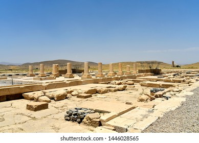 Pasargadae, Shiraz, Fars Province, Iran, June 22, 2019,The Private Palace, build to serve as the principal public palace for Cyrus and his court