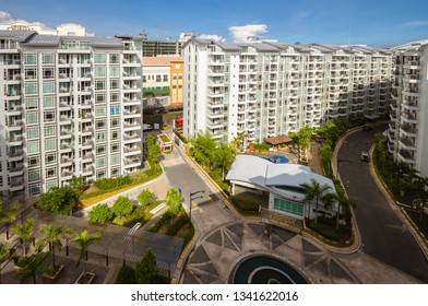 Pasay City, Philippines - June 5, 2016: Architecture: Modern Condominium complex, Pasay City, Philippines.