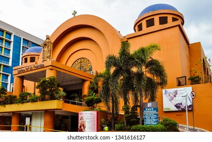 Pasay City, Philippines - May 26, 2016: Shrine of St. Therese. Dedicated to Saint Therese de Lisieux, the church is a diocesan shrine governed by the Military Ordinariate of the Philippines.