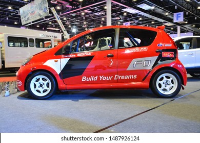 PASAY, PH - AUG. 17: BYD F0 compact car on August 17, 2018 at Transport and Logistics in World Trade Center Metro Manila, Pasay, Philippines.