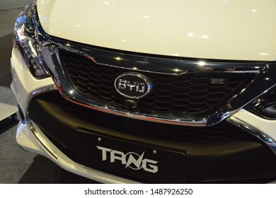 PASAY, PH - AUG. 17: BYD Tang sports utility vehicle on August 17, 2018 at Transport and Logistics in World Trade Center Metro Manila, Pasay, Philippines.