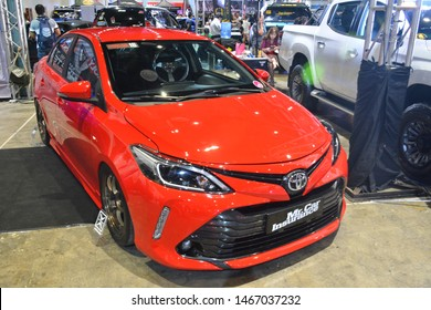 PASAY, PH - JULY 27: Toyota Vios at Philippine Autocon and Bumper to Bumper Prime on July 27, 2019 in World Trade Center Metro Manila, Pasay, Philippines.