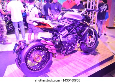 PASAY, PH - JUNE 16: MV Agusta Dragster motorcycle at Big Bike Expo on June 16, 2019 in SMX Convention Center, Pasay, Philippines.