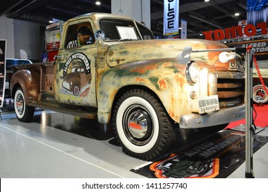 PASAY, PH – MAY 25: 1951 GMC pick up truck at 28th Trans Sport Show at SMX Convention Center on May 25, 2019 in Pasay, Philippines.