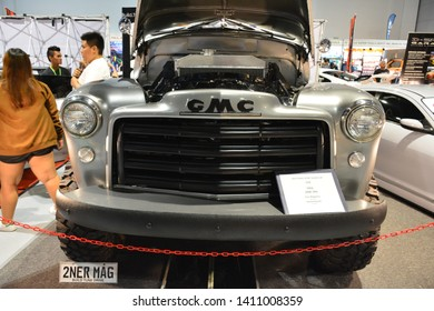 PASAY, PH – MAY 25: 1954 GMC 9430 truck at 28th Trans Sport Show at SMX Convention Center on May 25, 2019 in Pasay, Philippines.