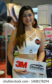 PASAY, PH – MAY 25: 3M Obsidian automotive tint female model at 28th Trans Sport Show at SMX Convention Center on May 25, 2019 in Pasay, Philippines.