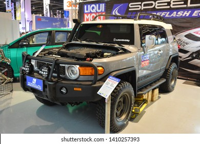 PASAY, PH – MAY 25: Toyota FJ Cruiser at 28th Trans Sport Show at SMX Convention Center on May 25, 2019 in Pasay, Philippines.