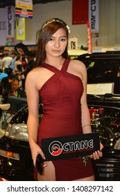 PASAY, PH – MAY 25:Octane detail studio female model at 28th Trans Sport Show at SMX Convention Center on May 25, 2019 in Pasay, Philippines.