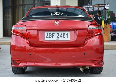 PASAY, PH - MAY 26: Red Toyota Vios at Toyota car fest on May 26, 2019 in Pasay, Philippines.