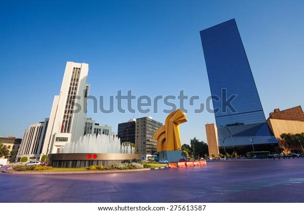 Paseo de la Reforma square in downtown Mexico city