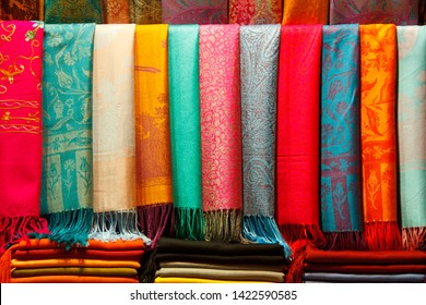 Pashminas of different colours, Grand Bazaar - Istanbul