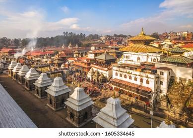 Pashupatinath Temple by Bagmati river, Kathmandu, Nepal