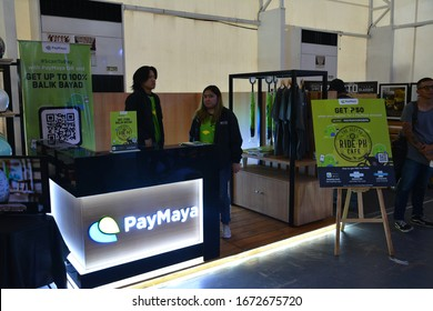 PASIG, PH - MAR. 7: PayMaya display booth at 2nd Ride Ph on March 7, 2020 in Pasig, Philippines. PayMaya is an online payment account that has an app where you purchase anything online.
