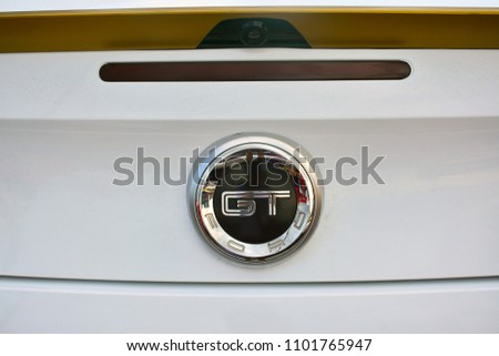 Pasig Ph May  Ford Gt Mustang Car Emblem On May