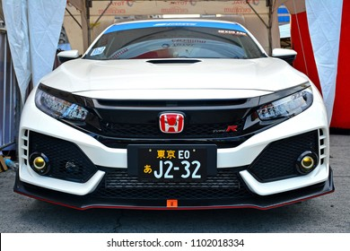 PASIG, PH - MAY 13: Honda Civic on May 13, 2018 in Pasig, Philippines. Hot Import Nights is an auto show featuring compact and tuner import cars.