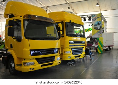 PASIG, PH - MAY 18: Daf truck at First U-Trip Rebuilt Truck Show on May 18, 2019 in Pasig, Philippines.