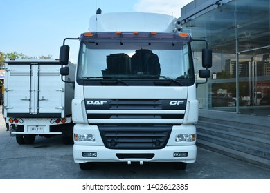PASIG, PH - MAY 18: Daf CF tractor head truck at First U-Trip Rebuilt Truck Show on May 18, 2019 in Pasig, Philippines.