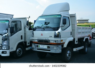 PASIG, PH - MAY 18: Mitsubishi Canter dump truck at First U-Trip Rebuilt Truck Show on May 18, 2019 in Pasig, Philippines.