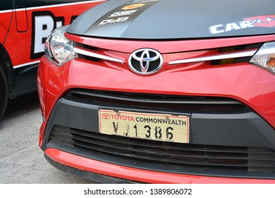 PASIG, PH - MAY 5: Toyota Vios front part at Hot Import Nights Manila 8 on May 5, 2019 in Pasig, Philippines.