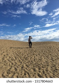 Pasir Mas, kelantan - August 27 2019:  A man lost in the desert (Sahara)