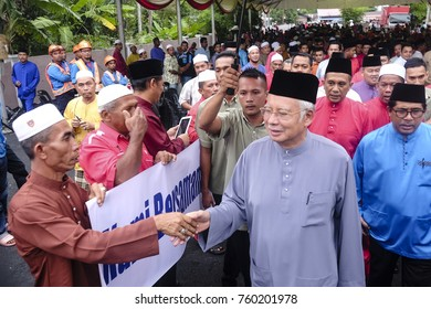 Pasir Puteh, Kelantan - 19th June 2016 : The arrival of the Prime Minister of Malaysia, Dato' Seri Najib Tun Razak at Iftar event in Pasir Puteh. Iftar means breaking fast for muslim during Ramadhan