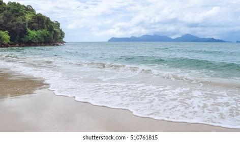 Pasir Tengkorak beach. Langkawi island wild nature. Malaysia