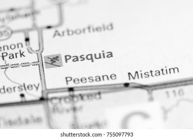 pasquia. Canada on a map.