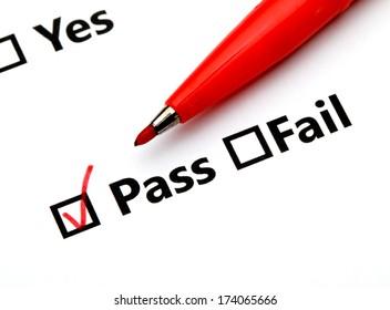 Pass or Fail checkbox