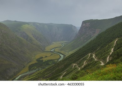 The pass Katu-Yaryk in Gorny Altai, Russia.