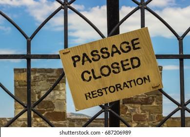 Passage closed restoration