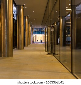 Passage to commercial building, London