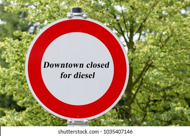 Passage forbidden, inner city closed for diesel