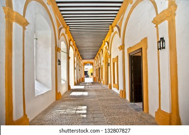 Passage  in the Royal Alcazars of Seville, Andalusia, Spain.