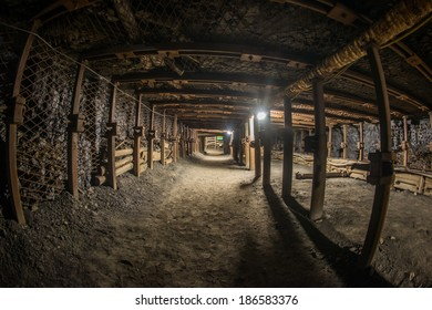 Passage through old coal mine