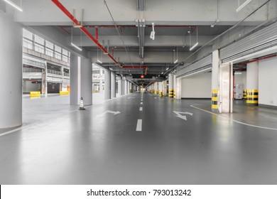 Passageway in the underground parking lot
