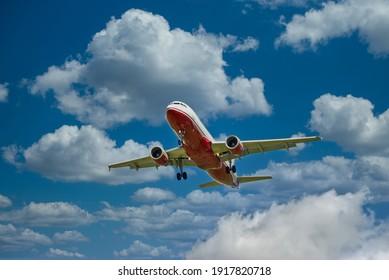 Passenger aircraft landing in Mallorca