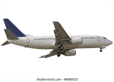 Passenger airplane isolated with white background