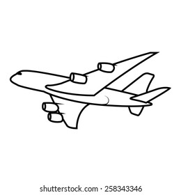passenger airplane soaring