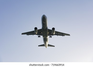 passenger airplane taking off composition photography