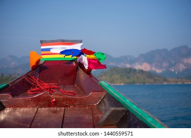 Passenger boats are sailing in the sea