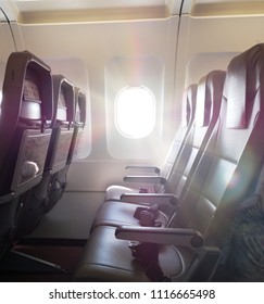 passenger cabin with sunrays
