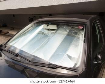 Passenger car that was set the sunshade