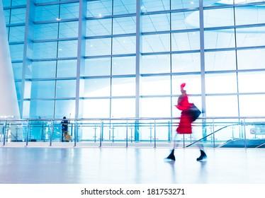 passenger in high speed ??rail station