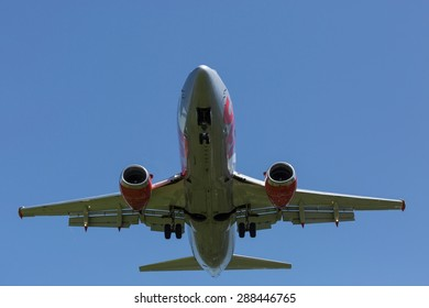passenger plane take-off from airport