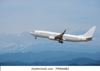The passenger plane which takes off
