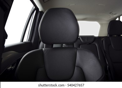 Passenger seats in modern sport car, frontal view